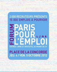 PARIS POUR L'EMPLOI - octobre 2012